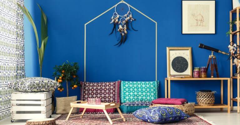 Os espaços decorados com este estilo têm um ar boêmio