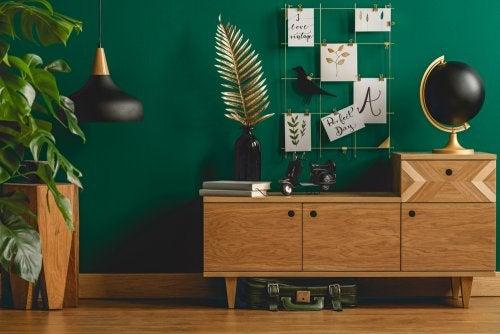 Combine tons ocres e verdes em seus espaços