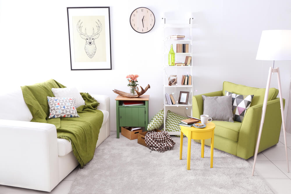 Coloque o sofá em um lugar estratégico