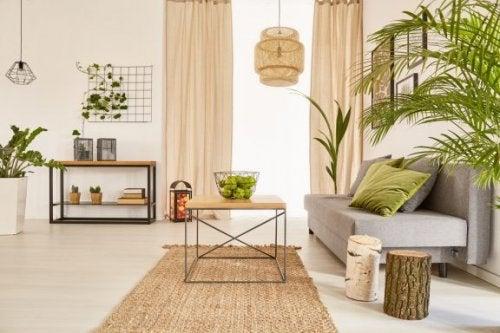 Tons ocres e verdes: tranquilidade em seus espaços