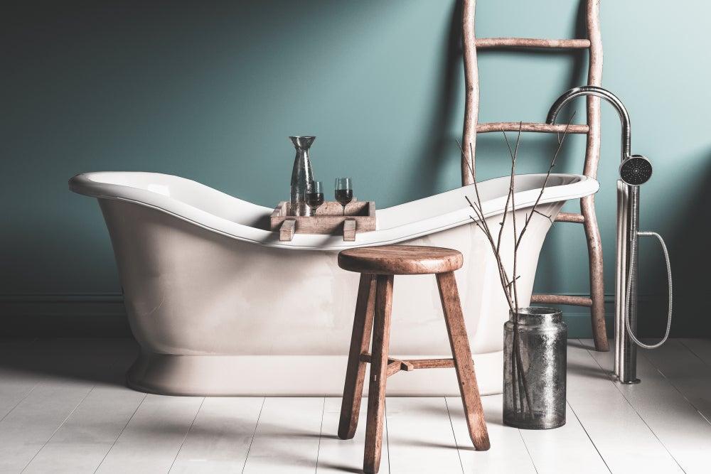 2 sugestões de banheiros rústicos vintage