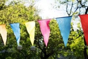 Ideias para decorar a sua festa com bandeirinhas