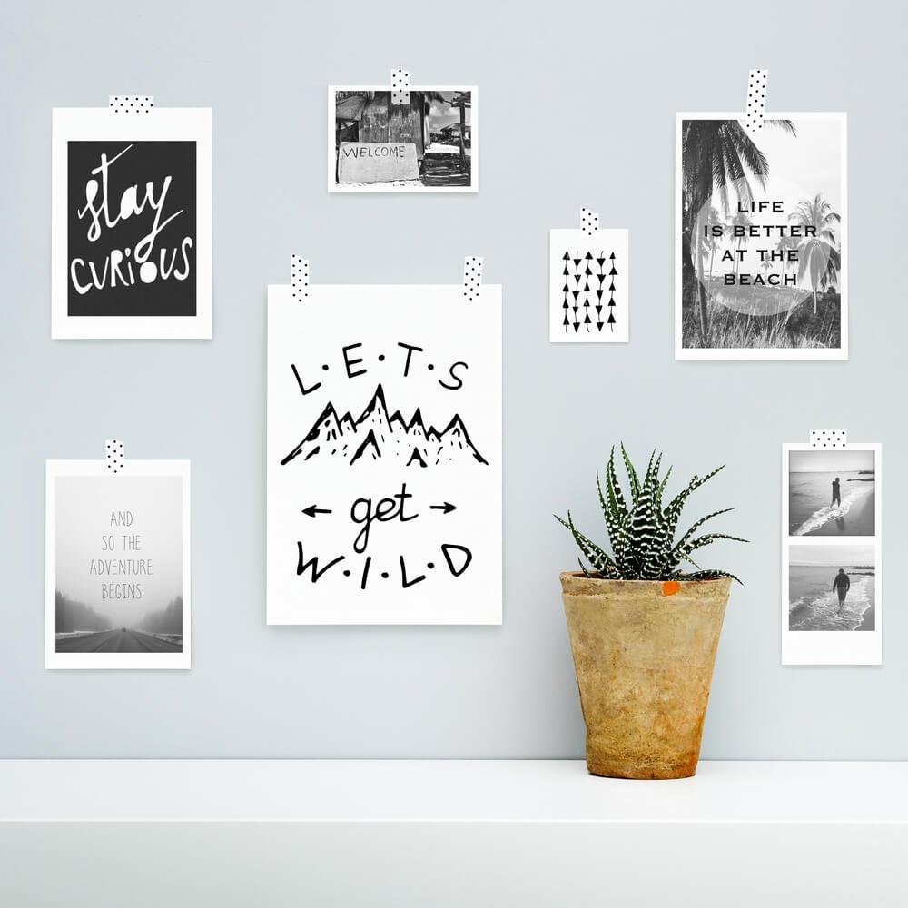 decorar com quadros com frases inspiradoras