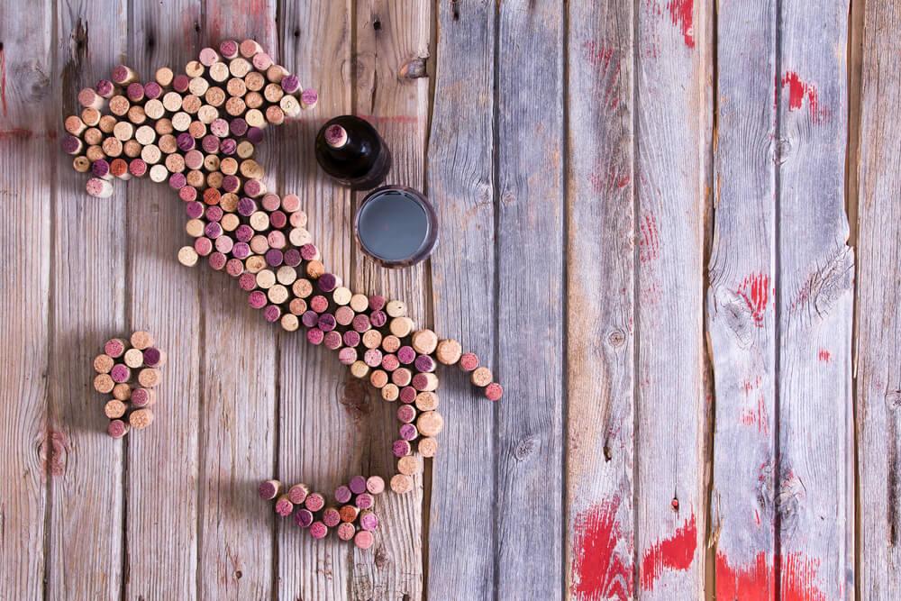 rolhas de garrafas de vinho