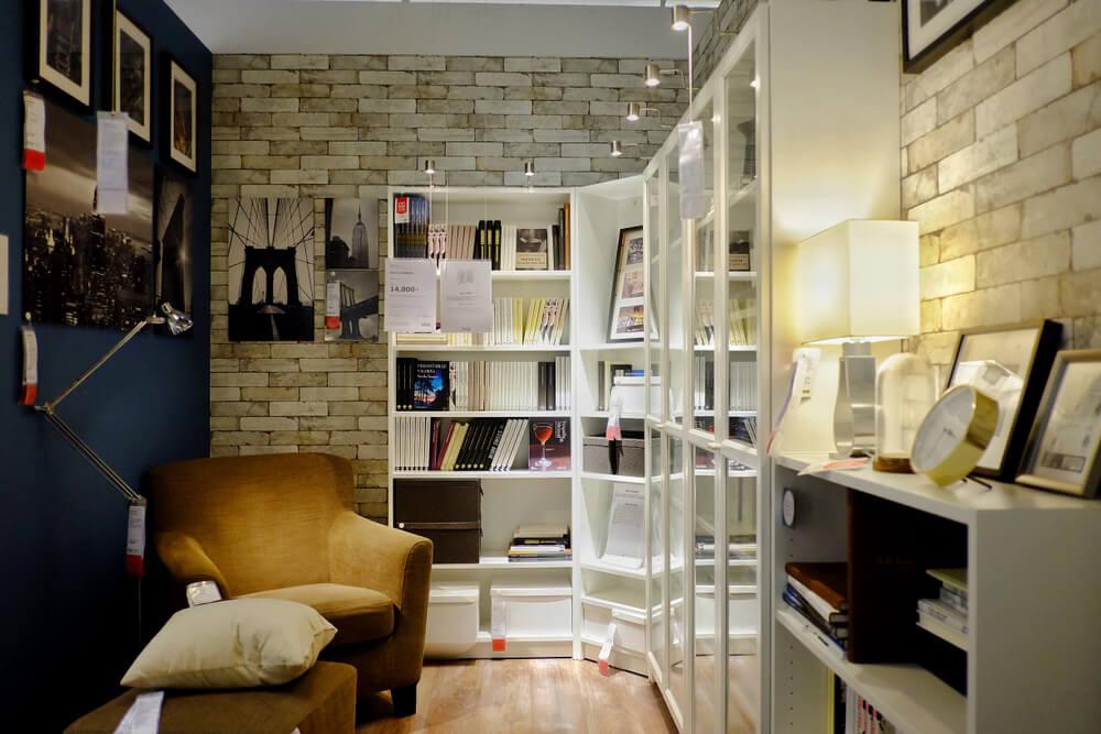 incluir luzes nas estantes