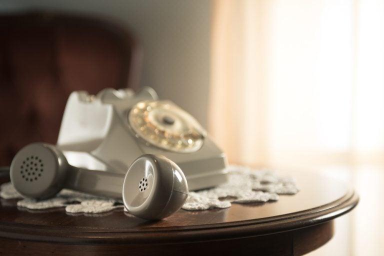 Estética do telefone na casa