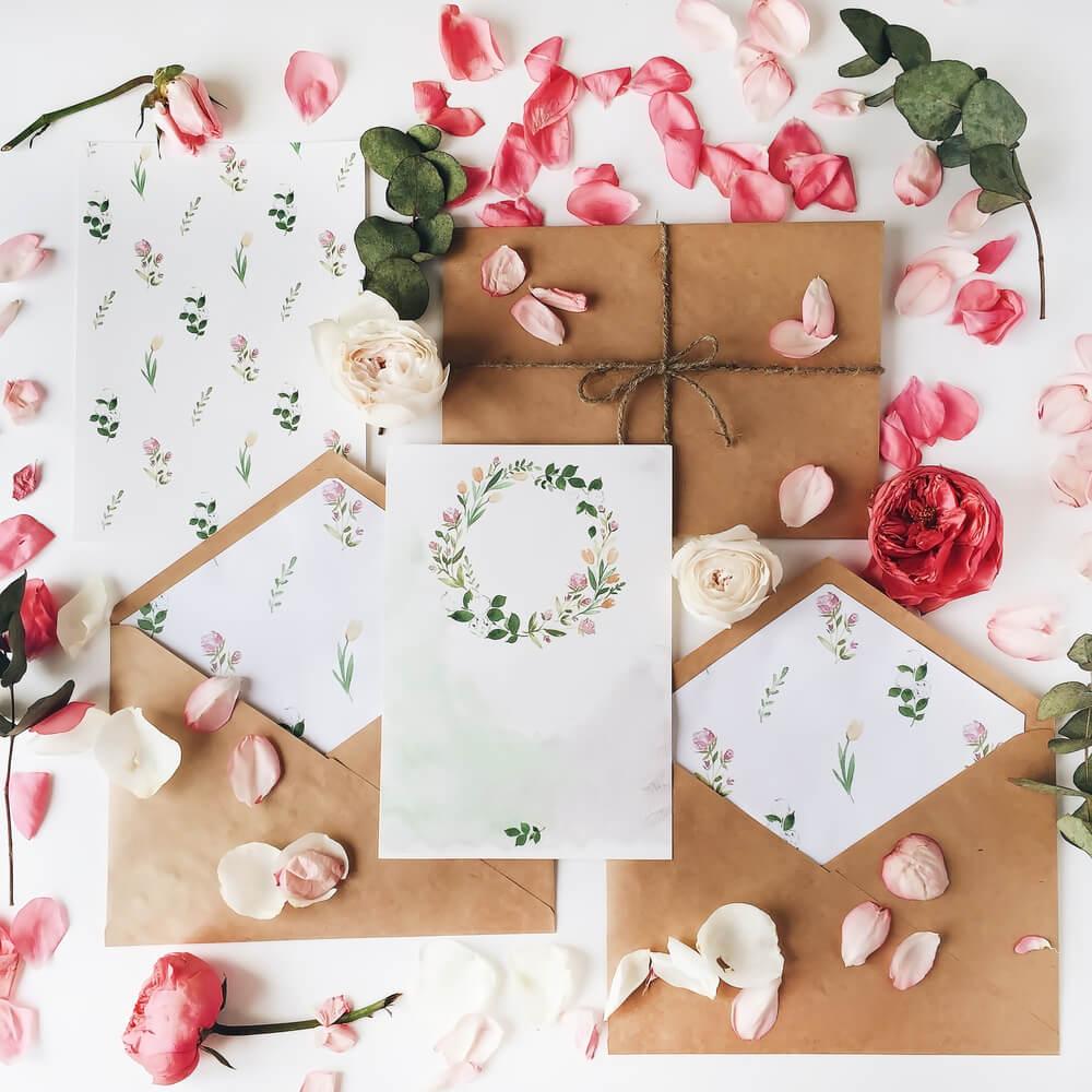 materiais para convite