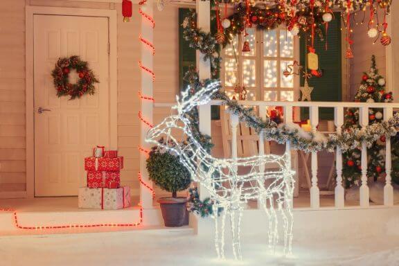 Como decorar o terraço no Natal