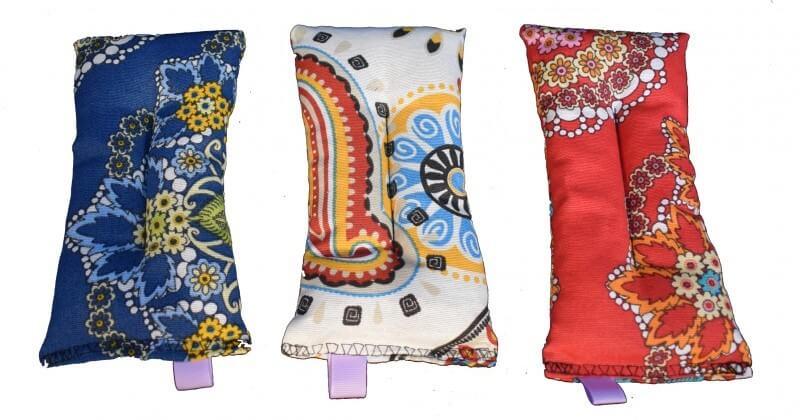 variedade de estampas para almofadas térmicas