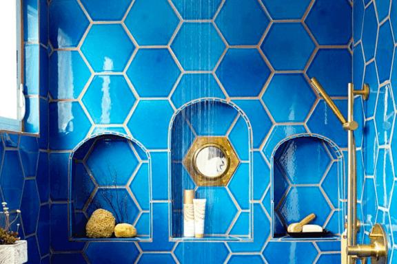 Decorar com azulejos geométricos