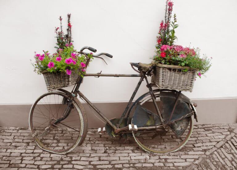 Bicicleta reciclada: um vaso original