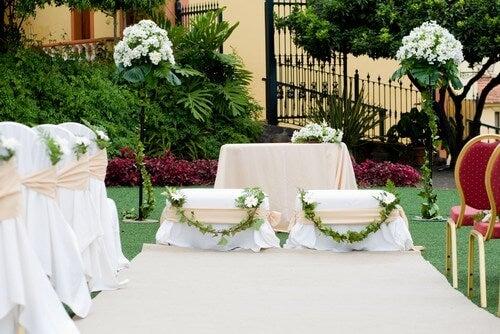 Casamento em um jardim