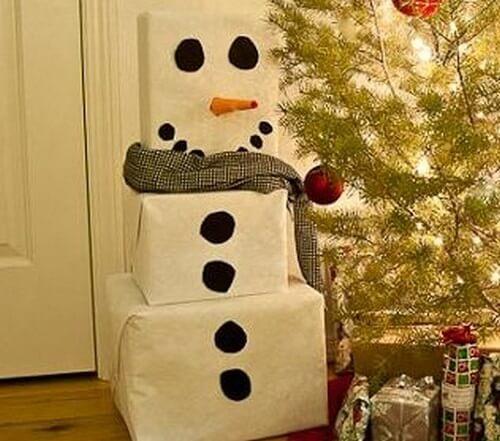Boneco de neve para crianças