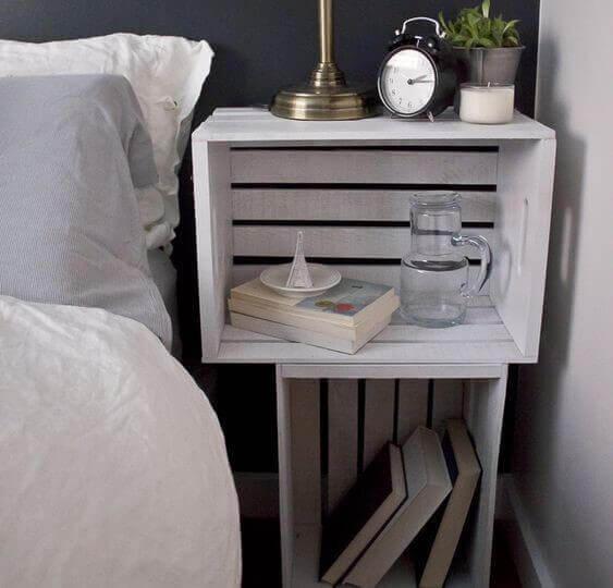 Use caixas de madeira vintage