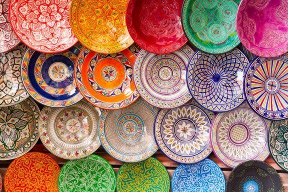 4 peças de cerâmica orgânica para decorar