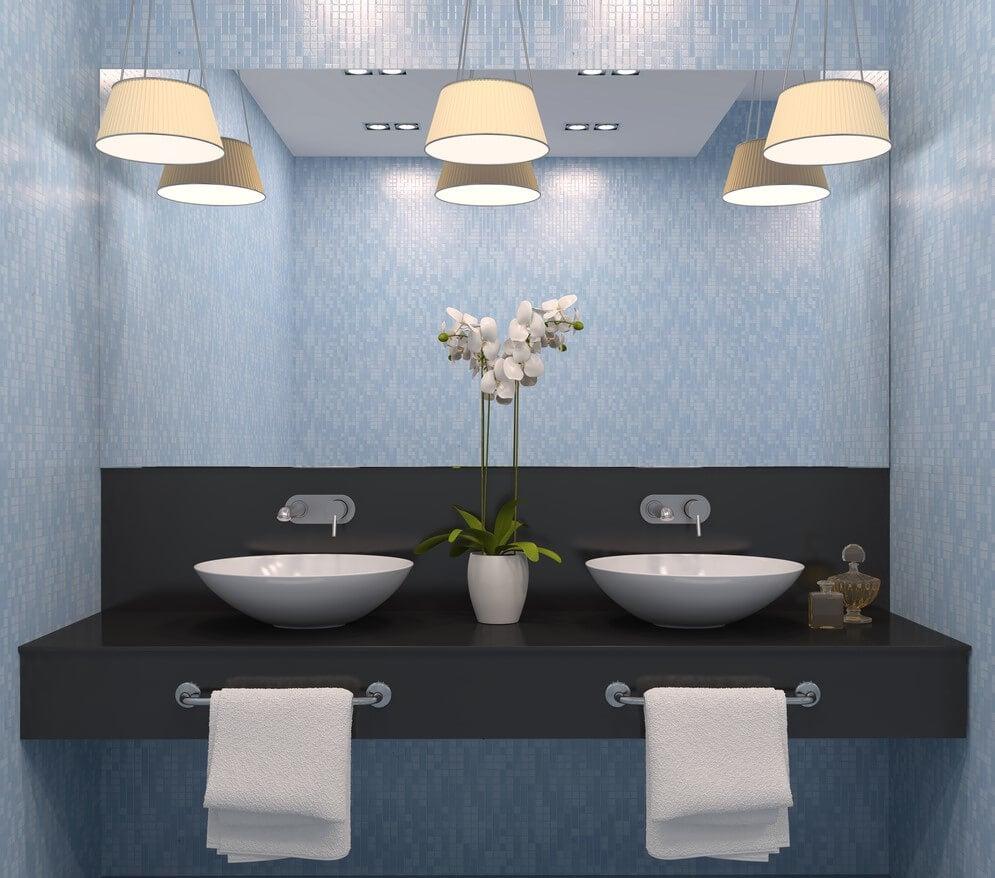 Luminária de banheiro