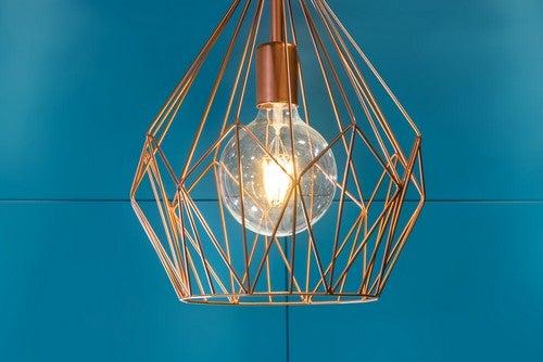 Luminárias de teto: modelo metálico