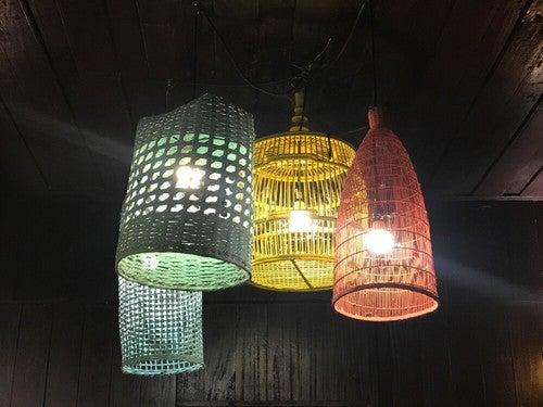 Luminárias de vime