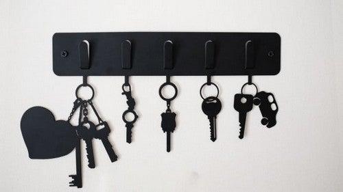 Ideias criativas para organizar e guardar suas chaves