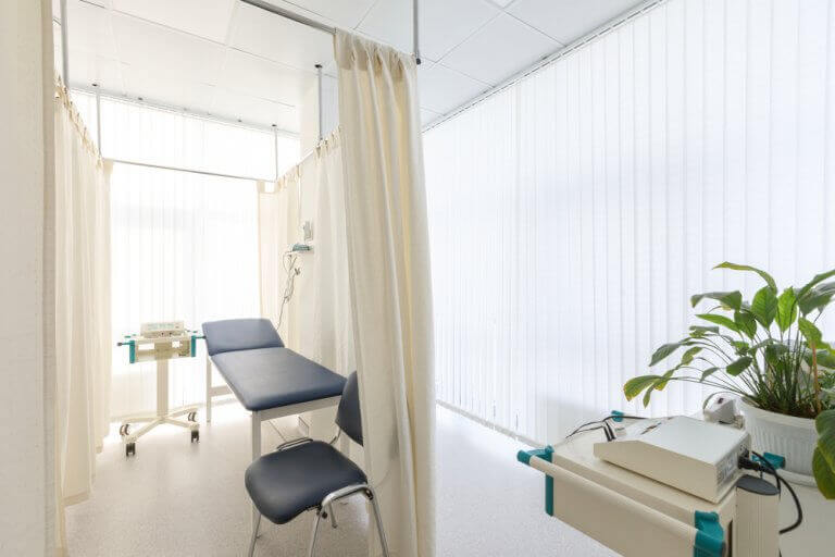 Centro médico livre de obstáculos