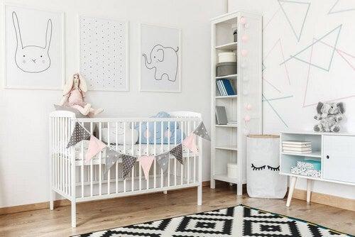 Quarto de bebê no estilo nórdico