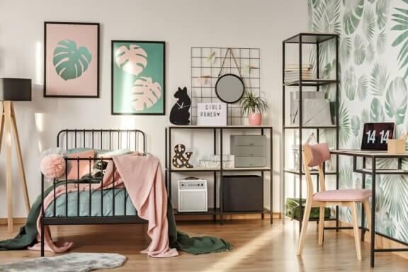 Ensine seus filhos a não saturar o quarto com decoração