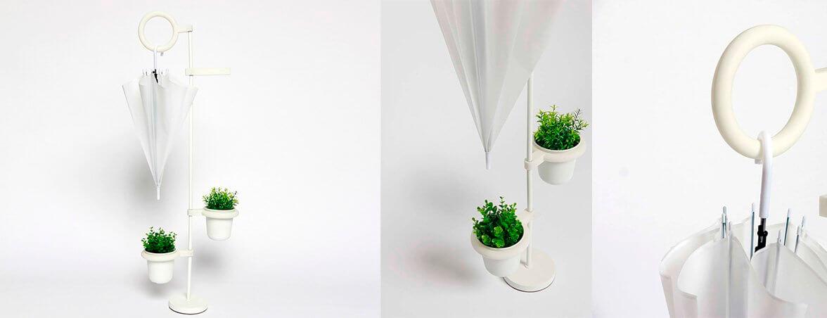 Suportes ecológicos para guarda-chuvas – vaso