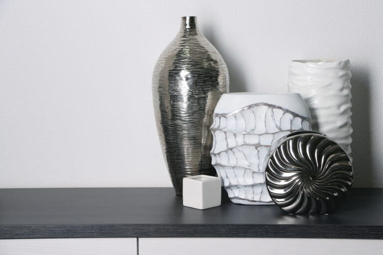 Vasos geométricos-decorar prateleiras