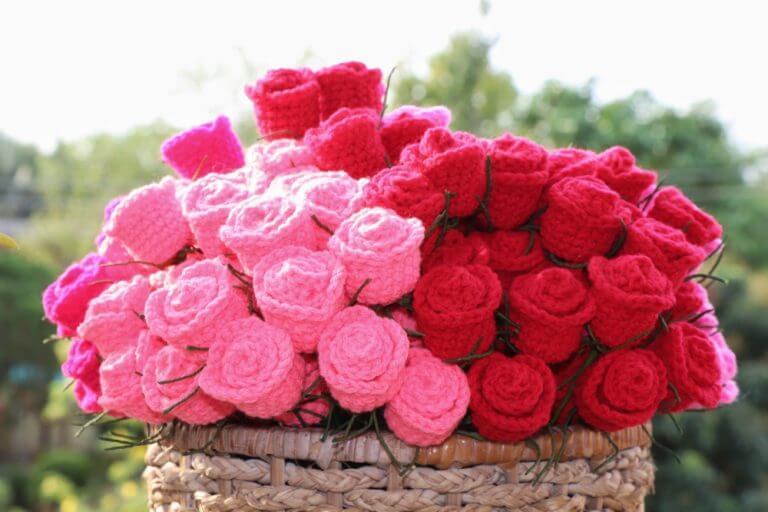 buquê vermelho e rosa