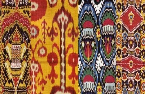 O Ikat é originário da Ásia e assemelha-se à técnica de tingimento tie dye