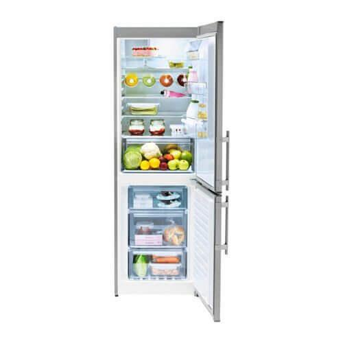 Esta geladeira da marca Lagan é composta por um formato simples, de nível básico, e por uma estética simplificada