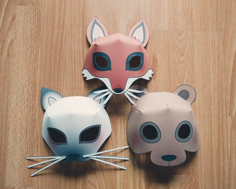 Máscaras infantis para decorar