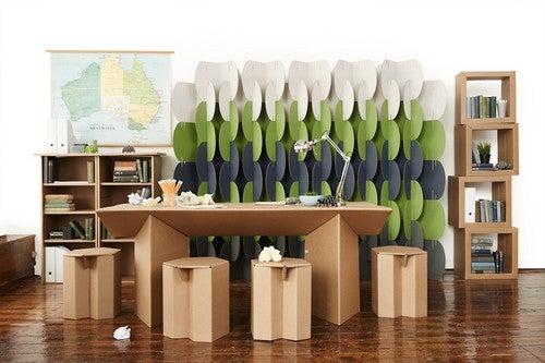 O papelão bem trabalhadopode se tornar um item muito interessante para decorar a residência