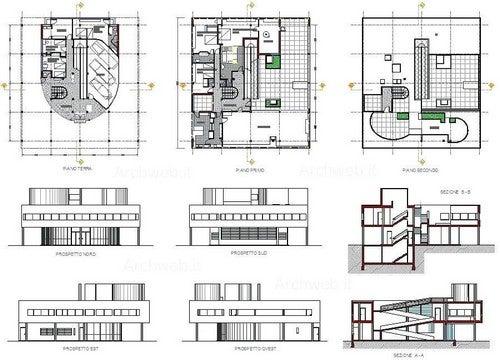 Concepção da planta da Villa Savoye