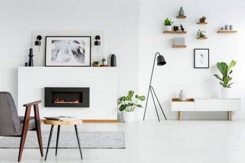 Salas de estar decoradas com branco