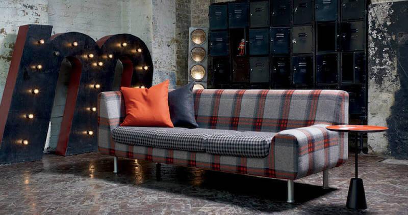 sofá quadriculado-tecidos quadriculados