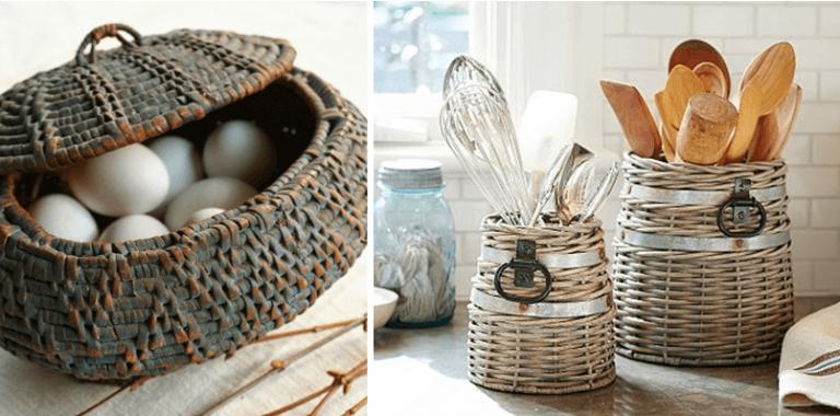 As cestas de vime como elemento auxiliar