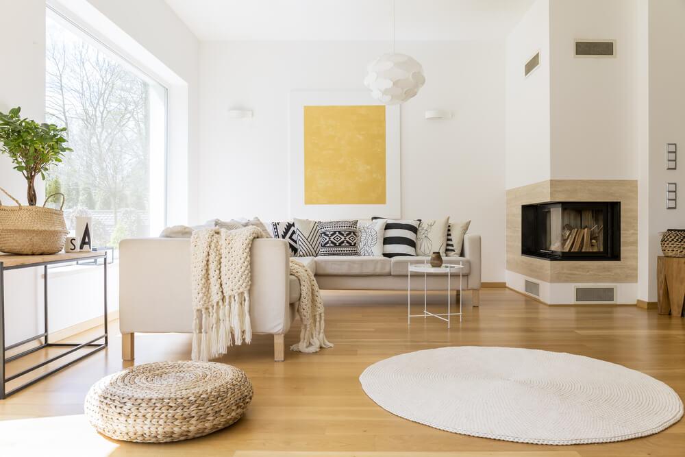 como conseguir uma sala de estar escandinava