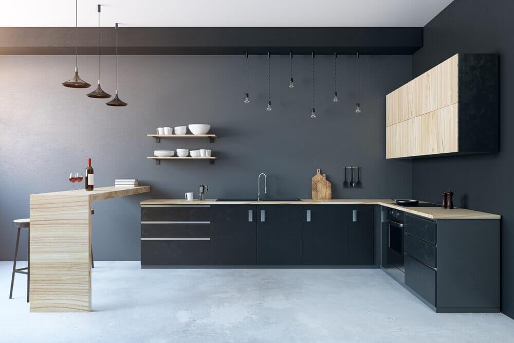 Os materiais da cozinha