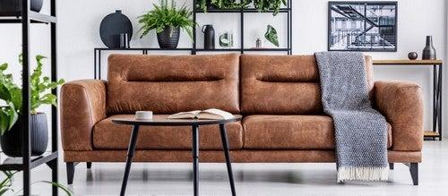 Vantagens e desvantagens de um sofá de couro