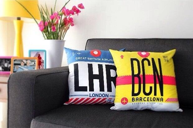Almofadas: decoração para quem ama viajar