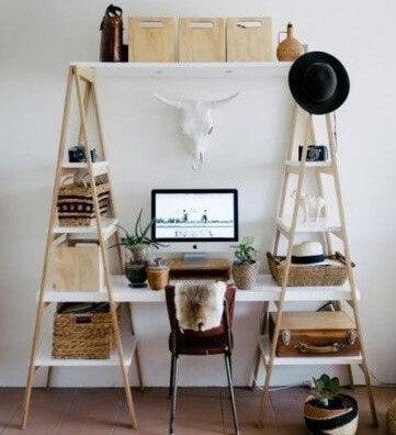 Escrivaninha com degraus