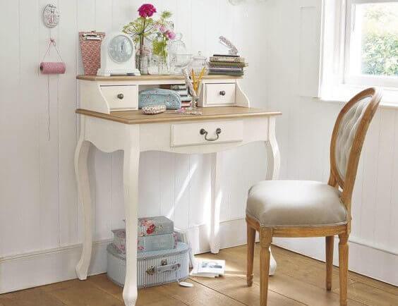Móvel branco retrô-escrivaninhas originais