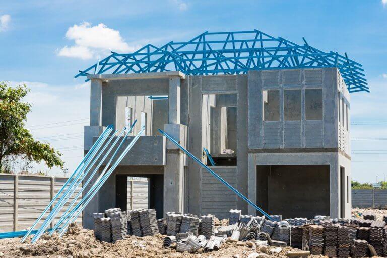Projetando a casa em um terreno