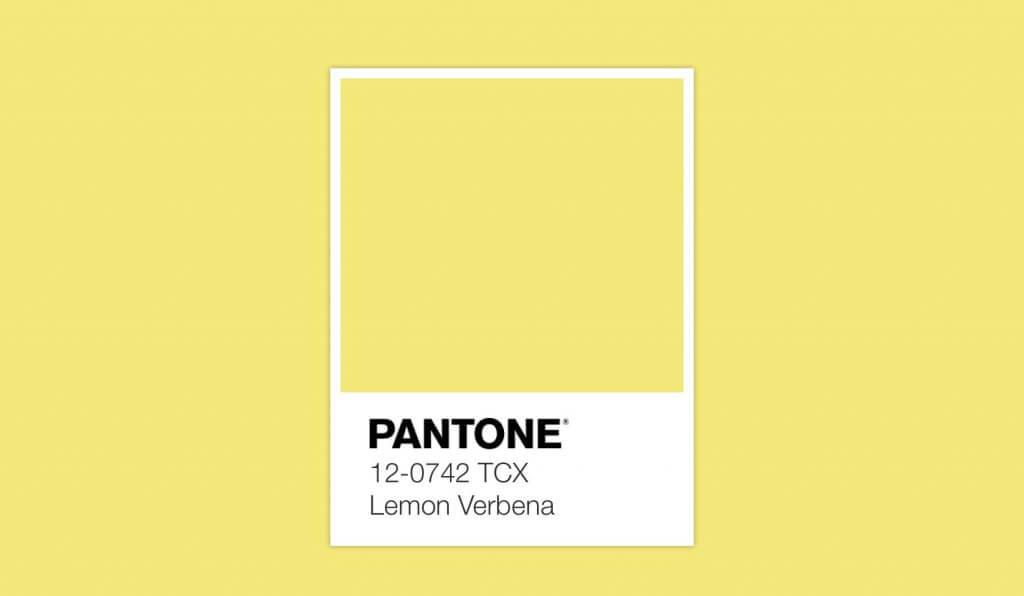 Pantone da Primavera cor Lemon Verbena