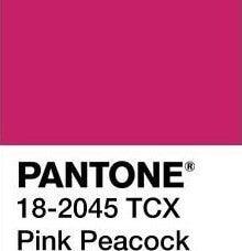 Pantone da Primavera cor Pink Peacock