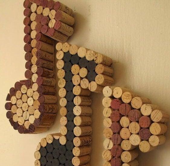 decoração com rolhas