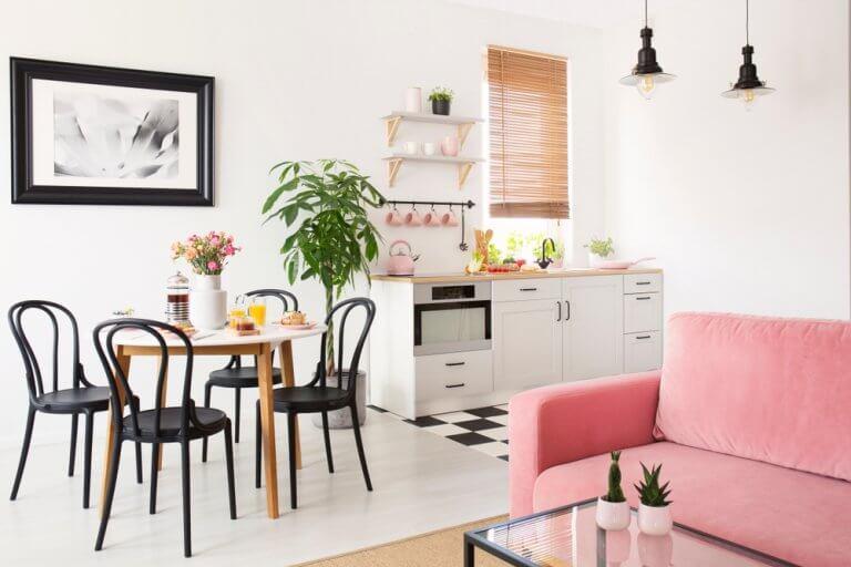 Deixe espaço para um escritório ou uma bancada para o café da manhã