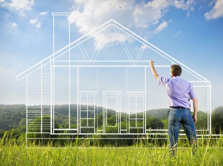 Acabamentos da construção de uma casa