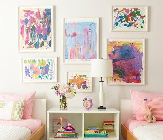 Em uma casa muito personalizada, as paredes falam
